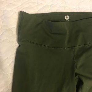 90 degree by reflex olive green leggings XS